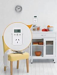 Недорогие -au / eu / us plug plug-in цифровой ваттметр жк-монитор энергии измеритель мощности электричество электрический счетчик