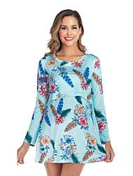 cheap -Women's Above Knee Maternity Blushing Pink Blue Dress Shift S M