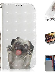 cheap -Case For Nokia Nokia 9 PureView Wallet / Card Holder / Shockproof Full Body Cases Dog PU Leather