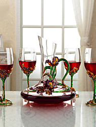 cheap -5pcs Crystal Wine Pourer Wine Coolers & Chillers Classic Wine Accessories for Barware