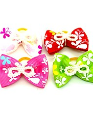 cheap -Dogs Ornaments Hair Accessories For Dog / Cat Bowknot Decoration Geometric Metalic Polyester Rubber Rainbow
