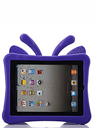 cheap -Case For Apple iPad 4/3/2 Child Safe Back Cover Solid Colored / Butterfly / 3D Cartoon EVA