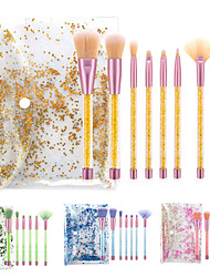 cheap -Professional Makeup Brushes 7 PCS Professional Soft Full Coverage Diamond Look Adorable Plastic for Makeup Set Makeup Tools Makeup Brushes Blush Brush Foundation Brush Makeup Brush Eyeshadow Brush