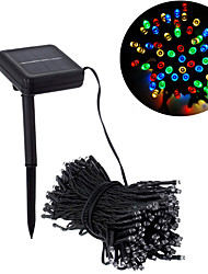 cheap -20m String Lights 200 LEDs 1 set Warm White Multi Color Solar Decorative Solar Powered