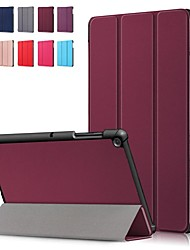 Недорогие -Кейс для Назначение SSamsung Galaxy Tab S4 10.5 (2018) / Tab A2 10.5(2018) T595 T590 / Samsung Tab S5e T720 10,5 Защита от удара / Флип / Оригами Чехол Однотонный Твердый Кожа PU