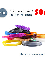cheap -Myriwell PCL 1.75mm filament 10 colors 5m Random color selected 3d printed pcl 1.75mm 3d pen plastic 3d printer Pcl filament 3d pens abs Environmental Safety