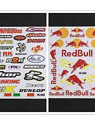 cheap -2 SET Reflective Motorcycle Side Strip Bike Helmet Sticker Car Styling Vinyl Decal