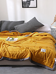 Недорогие -удобный - 1 одеяло Осень / Весна / Лето Микрофибра Однотонный / Простой