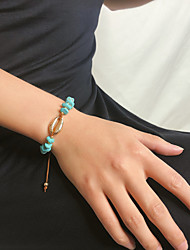 cheap -Women's Bracelet Braided Shell Simple Stone Bracelet Jewelry Blue For Gift Daily School Holiday Work