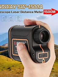cheap -SNDWAY laser rangefinder hunting monocular telescope 1000M/1500M astronomic golf trena laser meter distance measure speed-Height-angle