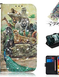 Недорогие -чехол для lg v40 thinq / lg stylo 5 / lg g8 thinq кошелек / визитница / противоударный чехол для всего тела кожа zoo pu
