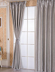cheap -Blackout Two Panels Curtain Study Room / Office   Curtains / Embossed