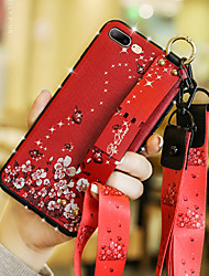 cheap -Case For Apple iPhone XS / iPhone XR / iPhone XS Max Rhinestone / with Stand / Pattern Back Cover Flower Soft Silica Gel