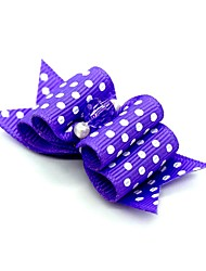 cheap -Dogs Ornaments Hair Accessories For Dog / Cat Bowknot Decoration Polka Dot Metalic Polyester Rubber Fuchsia Green Blue