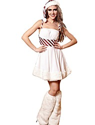 cheap -Women's Lace Sexy Babydoll & Slips / Garters & Suspenders / Uniforms & Cheongsams Nightwear Solid Colored / Striped White M L / Strap