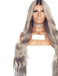 cheap -Synthetic Lace Front Wig Wavy Middle Part Lace Front Wig Ombre Long Ombre Color Synthetic Hair 18-26 inch Women's Adjustable Heat Resistant Party Gray Ombre