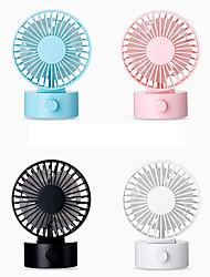 cheap -1Pc Office Desktop Multi-Function Usb Charging Fan Double Fan Page Portable Indoor Desk Surface Mute Large Air Volume Mini Fan