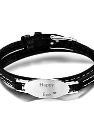 cheap -Personalized Customized Bracelet Titanium Steel Classic Gift Festival 1pcs Silver