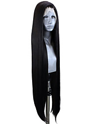 cheap -Synthetic Lace Front Wig Straight Side Part Lace Front Wig Very Long Natural Black #1B Synthetic Hair 20-30 inch Women's Adjustable Heat Resistant Party Black