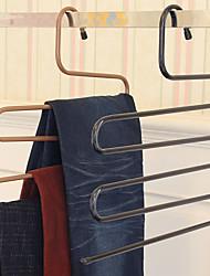 Недорогие -волшебные штаны стойку железа s-типа многослойные брюки вешалка для хранения гардероб
