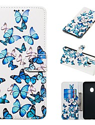 cheap -Case For Samsung Galaxy A20e / A7(2018) Magnetic / Flip / with Stand Full Body Cases Butterfly Hard PU Leather for Galaxy A9(2018)/A10/A30/20A/A40/A70/A9 2018/A3 2016/A5 2017/A3 2017/A5 2016