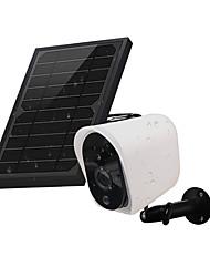 Недорогие -wi-fi видеокамера солнечная панель беспроводная перезаряжаемая аккумуляторная камера видеонаблюдения для наружного наблюдения дома 1080p HD 2-полосная аудиосистема ночного видения с датчиком движения