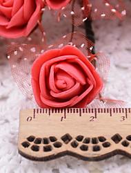 Недорогие -Иу pho_09w0144 pe пена искусственный цветок кружева пены роза цветок ручной работы украшения цветок венок материал красный