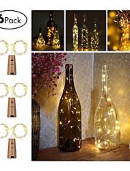 cheap -6pcs Three Function Button Bottle 20 Lamp String 2M Wine LED String Light Cork Shaped Wine Bottle Stopper Light Lamp Christmas Party Decoration Bottle Stopper Light