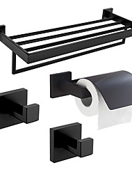 cheap -Toilet Paper Holder / Robe Hook / Bathroom Shelf New Design / Creative Contemporary / Traditional Stainless Steel + A Grade ABS / Stainless Steel / Metal 3pcs - Bathroom Wall Mounted