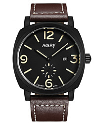 cheap -Men's Dress Watch Quartz Vintage Style Stylish Genuine Leather Black / Brown 30 m Calendar / date / day Casual Watch Analog Casual Fashion - Black Brown Two Years Battery Life / Stainless Steel