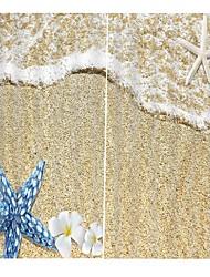 Недорогие -простой дизайн новый 3d печать шторы утолщенные полный оттенок ткани занавес для гостиной водонепроницаемый против морщин чистый полиэстер занавески для душа