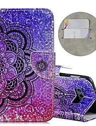 cheap -Case For Samsung Galaxy S9 / S9 Plus / S8 Plus Wallet / Card Holder / Shockproof Full Body Cases Glitter Shine / Flower Hard PU Leather