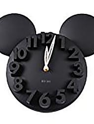 cheap -LOCOMO Modern Design Mickey Mouse Big Digit 3D Wall Clock Home Decor Decoration
