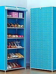 Недорогие -Пластиковые & Металл / Нетканые Прямоугольная Творчество / проведение / Новый дизайн Главная организация, 1 комплект Полки для обуви / Мешки для обуви