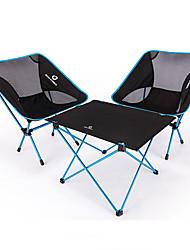 abordables -BEAR SYMBOL Table pliante de camping avec chaises Portable Antidérapant Ultra léger (UL) Pliable Tissu Oxford Aluminium 7075 Maille 2 chaises 1 table pour Pêche Camping Automne Printemps Bleu