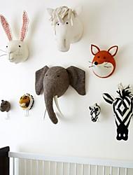 cheap -Bedroom Decoration Animal Rabbit Swan Monkey Horse Frog Head Wall Mount Stuffed Plush Toys Felt Artwork Wall Dolls Photo Props