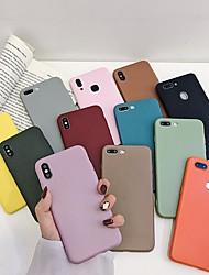 cheap -Case For Apple iPhone XS / iPhone XR / iPhone XS Max Shockproof Back Cover Solid Colored Soft Silica Gel