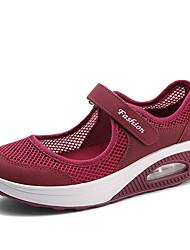 cheap -Women's Sneakers Customized Heel Round Toe Mesh Minimalism Spring & Summer Black / White / Burgundy / Slogan