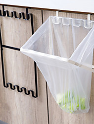 cheap -Kitchen Cabinet Type Garbage Bag Hanging Rack Wall Type Door Back Type Trash Can Garbage Hook