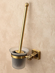 cheap -Toilet Brush Holder Creative Contemporary Brass 1pc - Bathroom Wall Mounted