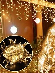 abordables -Royaume-Uni prise 3 m * 3 m 300 leds icicle rideau lumières dip led blanc chaud partie / décoratif / mariage 220-240 v 1pc