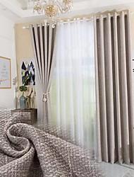 abordables -coton de chanvre de style minimaliste moderne épais rideaux salon rideaux de la salle à manger
