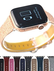 cheap -Bling Glitter Genuine Leather Band For Apple Watch 40mm/44mm/42mm/38mm Bracelet For IWatch Series 5/4/3/2/1 Wristband