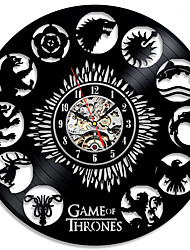 Недорогие -настенные часы игра престолов тема винил уникальные настенные часы от gullei.com