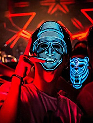 cheap -Unique Sound Halloween Mask LED EL Light Cosplay Mask for Festival Party Costume
