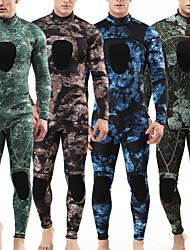 abordables -MYLEDI Homme Combinaison  Intégrale 3mm SCR Néoprène Combinaisons Chaud Etanche Manches Longues Fermeture Eclair Dorsale - Natation Plongée Surf camouflage Printemps Eté Automne / Hiver