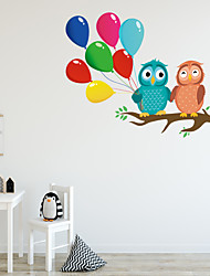 cheap -Cartoon Owl Branch Wall Stickers - Words &ampampamp Quotes Wall Stickers Characters Study Room / Office / Dining Room / Kitchen