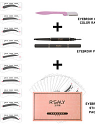 abordables -Crayons à Sourcils Sourcils Couleur Imperméable Kits Facile à transporter 3 pcs Maquillage Universel Soin Quotidien Sec Longue Durée étanche Multifonction 4 couleurs Noël Regalos de Navidad Mariage