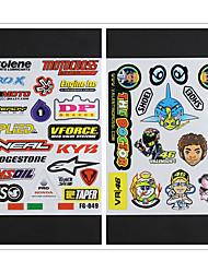 cheap -2 SET Reflective Motorcycle Side Strip Bike Helmet Sticker Car Styling Vinyl Decal