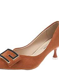 cheap -Women's Heels Kitten Heel PU(Polyurethane) Summer Black / Green / Orange